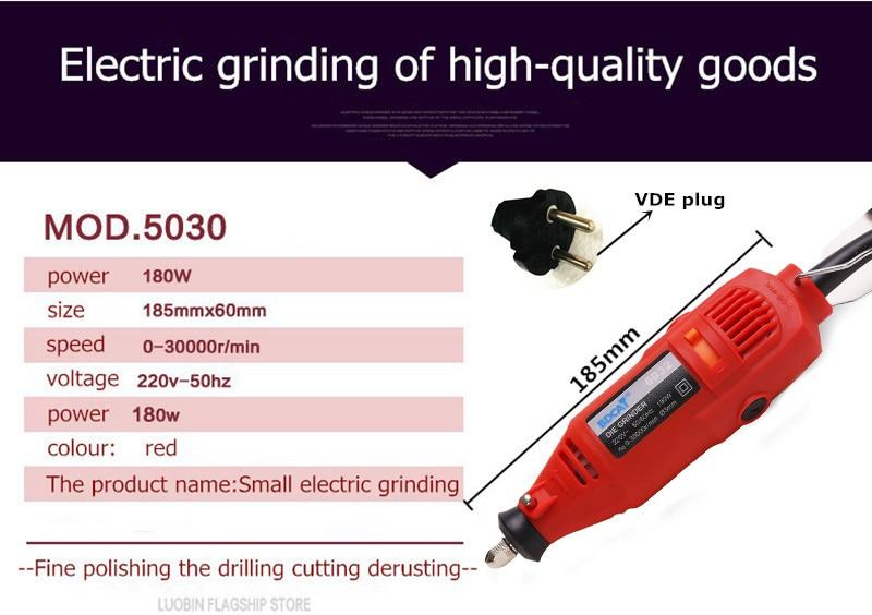BDCAT EU / US plug dremel Grinder Mini trapano a mano elettrico fai - Utensili elettrici - Fotografia 4