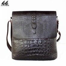 Роскошные под аллигатора узор Для мужчин модные Дизайн высокое качество сумка мужской Бизнес плечо кожаная дорожная клапаном Сумки