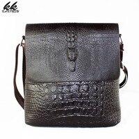 Men Fashion Design High Quality Messenger Bag Male Business Coffee Shoulder Bag Genuine Cowhide Leather Travel