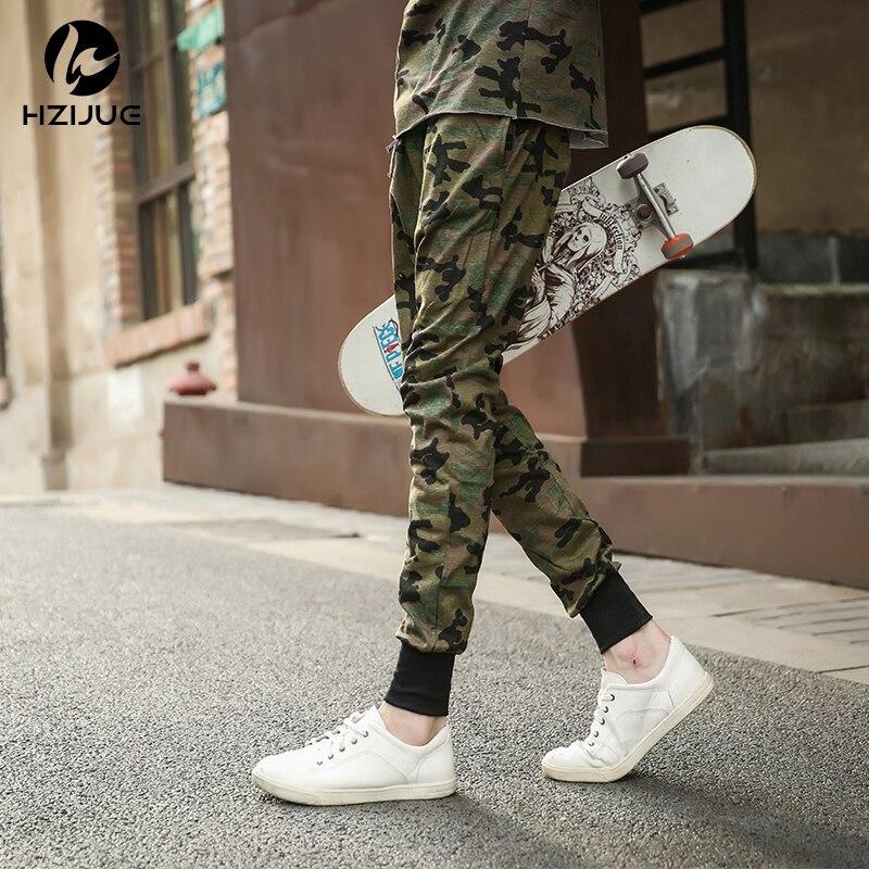 05b56fd509c96 Hzijue mens joggers Pantalones hip hop camuflaje hombres Pantalones Militar  joggers Kanye Pantalones harem hombres skate Pantalones de chándal joggers  ...