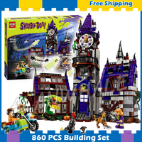 860pcs New Mystery Mansion Scooby Doo Dog Carton 10432 Movie Animal Model Building Blocks Gifts Kit Sets Compatible with Lego