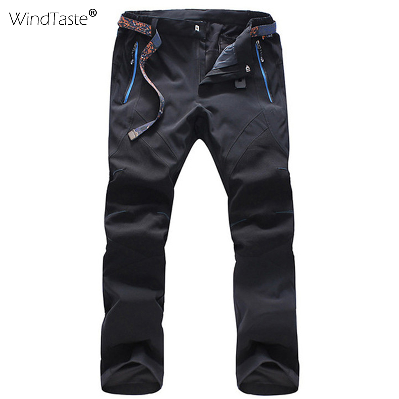 WindTaste Men's Summer Softshell Breathable Pants Quick Dry Outdoor Sports Camping Skiing Climbing Waterproof MaleTrousers KA033