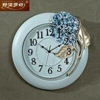 Туда творческий Европейский пастырской Романтика смолы настенные часы гортензии большие часы