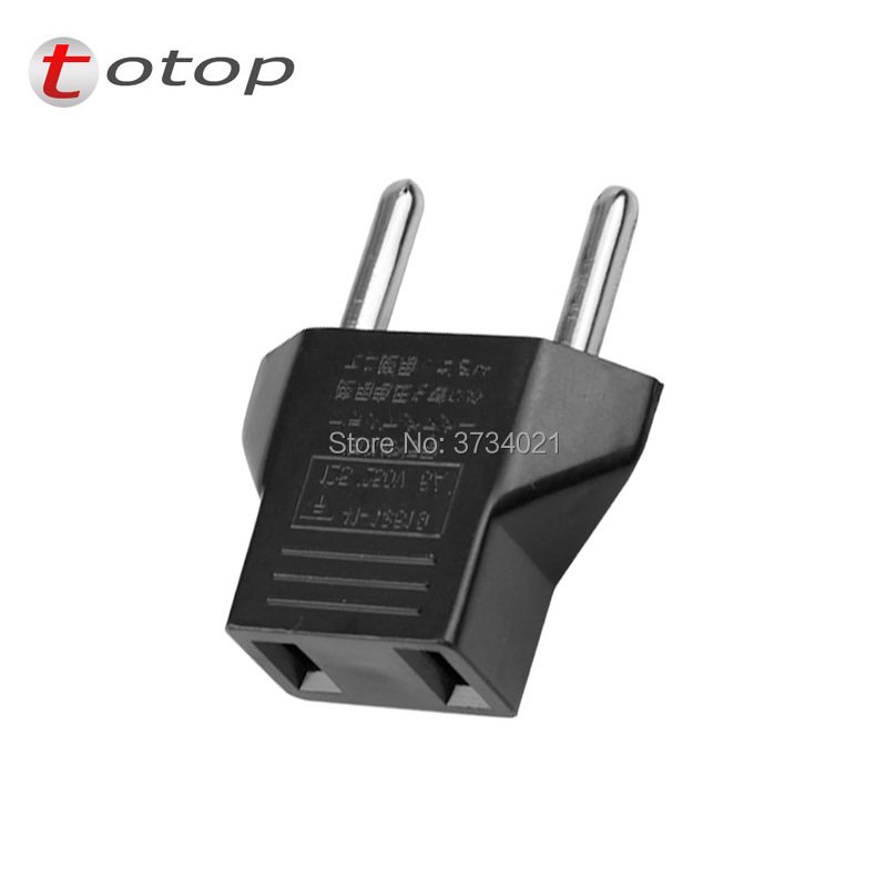 100pcs/bag CN US Plug Adapter To EU Euro Type C AC Travel Power Adapters