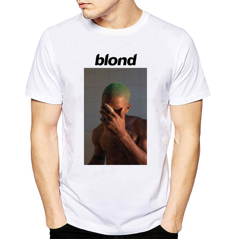 909c4ba8 Frank Ocean Blonde T Shirt Men Cotton Letter Print Tee Shirt Male White  Black Short Sleeve T Shirt Tops Tees for Homme-in T-Shirts from Men's  Clothing on ...