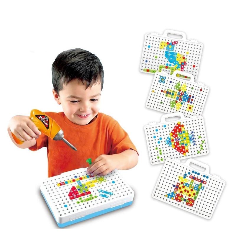 Enfants Jouets perceuse Électrique écrou démontage match le de outil Perceuse Électrique Puzzle Assemblé Blocs ensembles Enfants Puzzle Jouet Cadeaux
