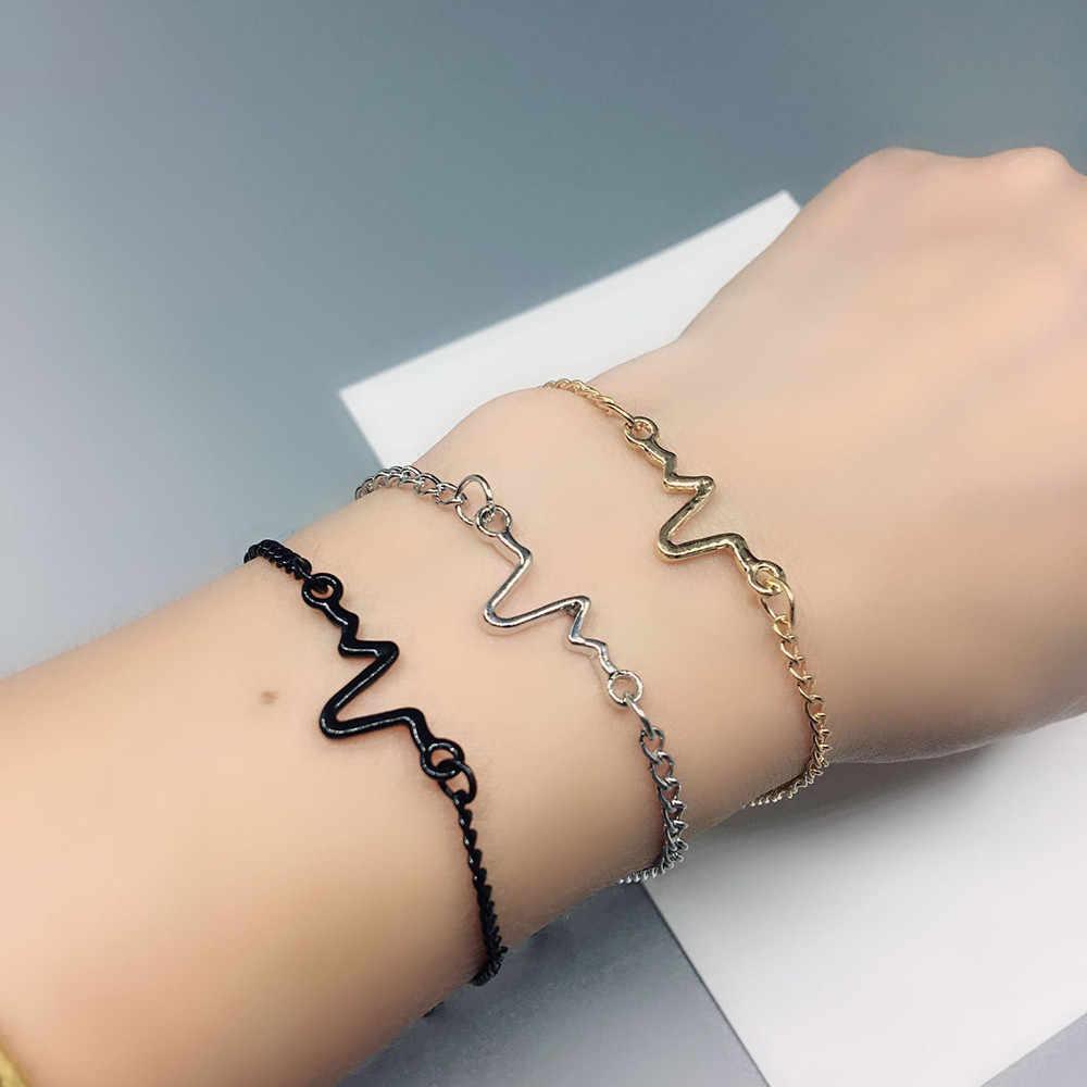 Женский браслет, мужской браслет в стиле бохо, ювелирное изделие, сердцебиение, волна, GD, цепочка, пара браслетов, ножные браслеты, браслет, Pulseras Mujer Moda 2019 L0710