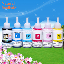 six pk L Series For Epson L800 L801 High Quality Dye Refill Ink Kit 70ml Heat Transfer Ink Screen Print Ink Printing Ink