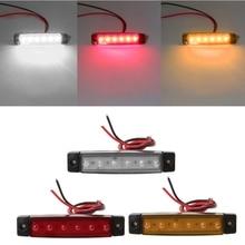 цена на 1 Pair DC 24V Side Marker Light Lamp 6 LED Bus Van Truck Lorry Trailer Indicator