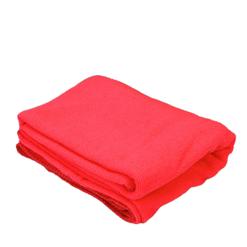 Red Microfiber Bath Towels: Soft Microfiber Bath Towel Absorbent Drying Shower Beach