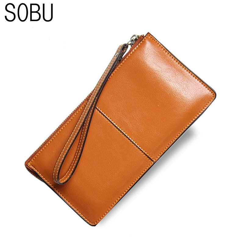 SOBU Women Wallets Candy Oil Leather Wallet Long Design Day Clutch Casual Lady Cash Purse Women Hand Bag Carteira Feminina H017 candy leather clutch bag women long wallets famous brands ladies coin purse wallet female card phone holders carteira feminina
