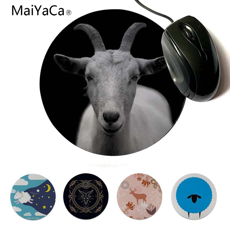 MaiYaCa Sheep Time to Sleep small Gaming MousePads 20x20cm 22x22cm diameter round mouse pad
