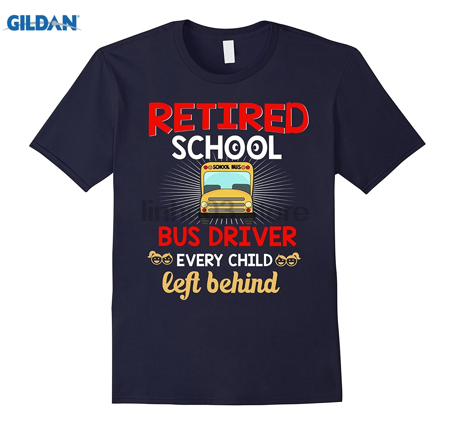 GILDAN Retirement Gifts School Bus Driver Shirt Every Child Left glasses Womens T-shirt Dress female T-shirt