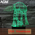 Star Wars 3D Toque lámpara De Mesa de Luz 7 Que Cambia de Color De Escritorio 3D lámpara de Tropas Perro 3D LED Lámpara de La Estrella de La Muerte de Luz Led Night 3D luces
