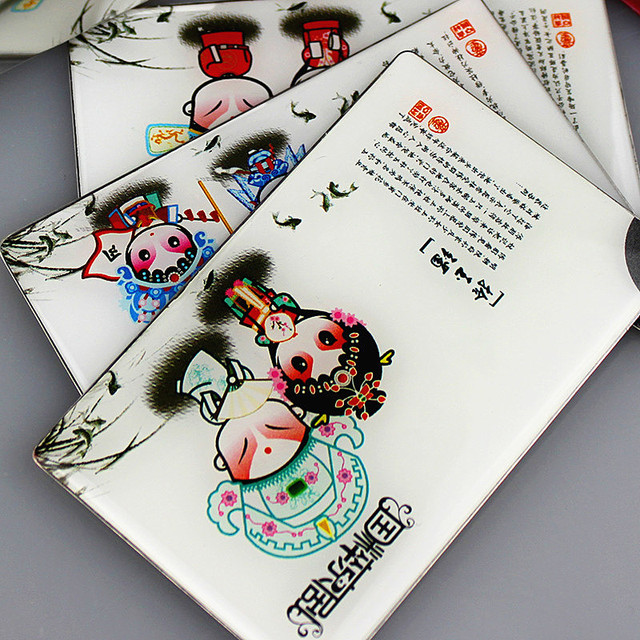 Cosmetic Mirror Pocket Porcelain Led Metal Mirror With Light  Makeup Hand Girl Cosmetic Mirrors Cute Cartoon Mirror Gifts