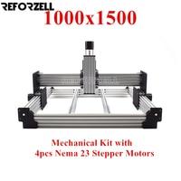 1000mm x 1500mm WorkBee Máquina Router CNC kit  fresagem CNC kit Mecânico com 23 4 pcs Nema stepper motors