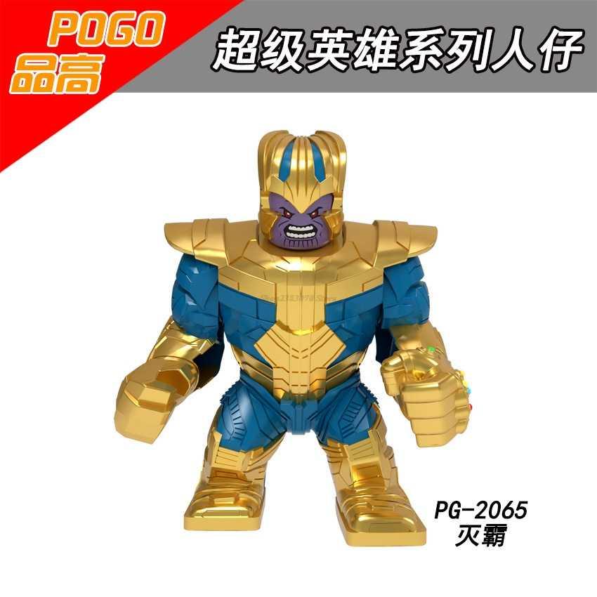 Legoing marvel hulk thanos super heróis batman homem-aranha homem de ferro vingadores 4 figuras capitão américa blocos de construção brinquedos presentes