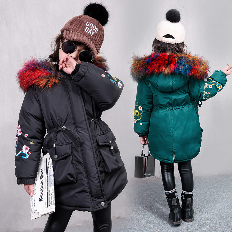 Girls winter jacket kids coats jacket for teenage thick warm fur collar down coats children kids down jacket hooded kids clothes girls winter jacket kids coats jacket for teenage thick warm fur collar down coats children kids down jacket hooded kids clothes