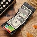 2016 Nuevo Cuero Genuino Clips Para Billetes Monedero Para Hombre Precio del Dólar abrazadera de Metal Clips De Dinero carteras Delgado precio del envío gratis