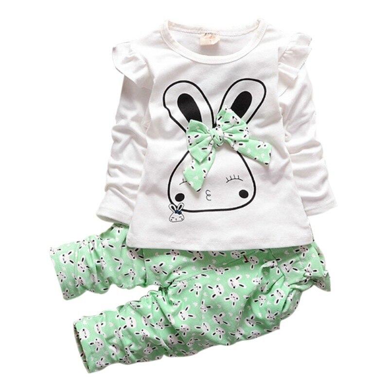 8003585e740 2 PCS Infantile Bébé Filles Hiver Chaud Pull Tops + Pantalon Tenues Set  Enfants Vêtements RZ