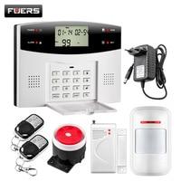 Fuers 99 Sem Fio 4 zonas Com Fio GSM PSTN Sistemas De Alarme De Segurança Em Casa Sistema de Alarme Contra Roubo de Controle Remoto