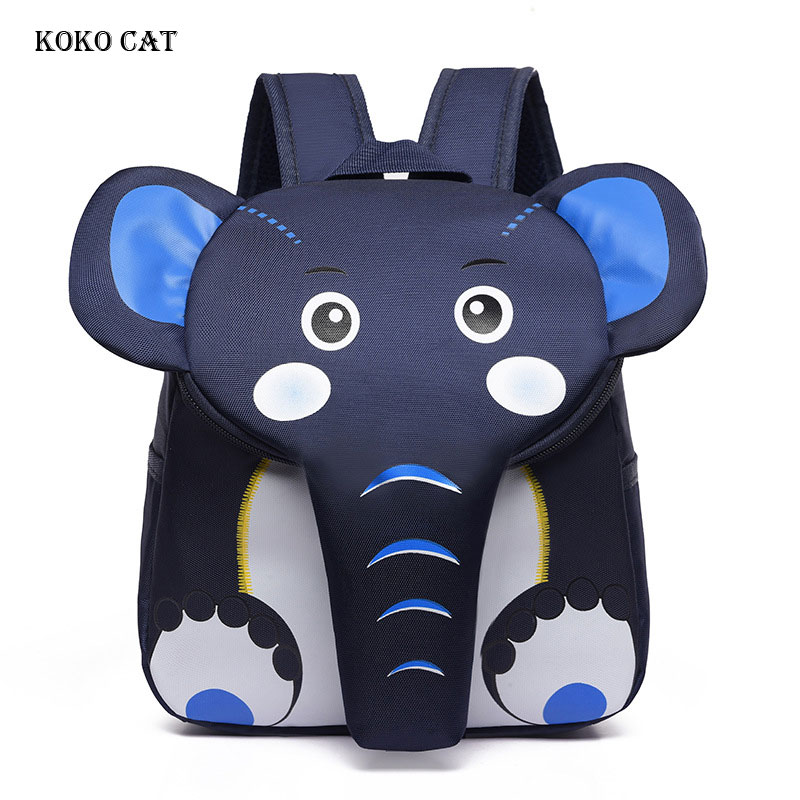 Children Backpacks Kids 3D Cartoon Animal Elephant Schoolbag Kindergarten Girls Boys School BagsTravel Daypacks Mochila Escolar