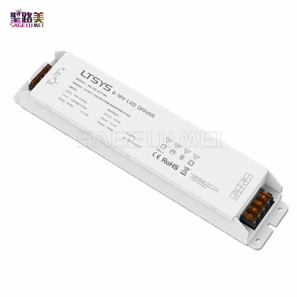 LTECH CV Led Driver AD-150-12-F1M1 AC100V - 240V input DC 12V 12.5A 150W output PUSH DIM 0/1-10V dimming led driver for lights цена и фото