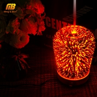 LED 3D Decorative humidifier Night Lamp 220V Silent Atomizing Humidifier Light Essential Oil Fragrance Lamp for Bedroom Hotel