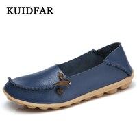 KUIDFAR Hot koop vrouwen flats nieuwe dames schoenen fashion solid soft loafers lente vrouwen casual platte schoenen
