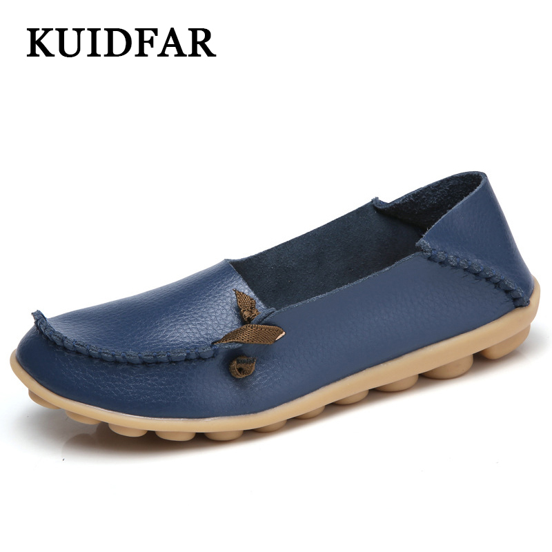 KUIDFAR Hot sale women flats new ladies shoes fashion solid soft loafers spring women casual flat shoes 2015 hot sale new spring autumn women flats sweet bowtie casual fashion ladies wedding shoes