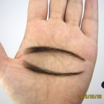 FXVIC 2018 New Real Easy To Wear Sobrancelha Sale Lace Brow ,free Shipping Queixo Eye brow human Hair Eyebrows