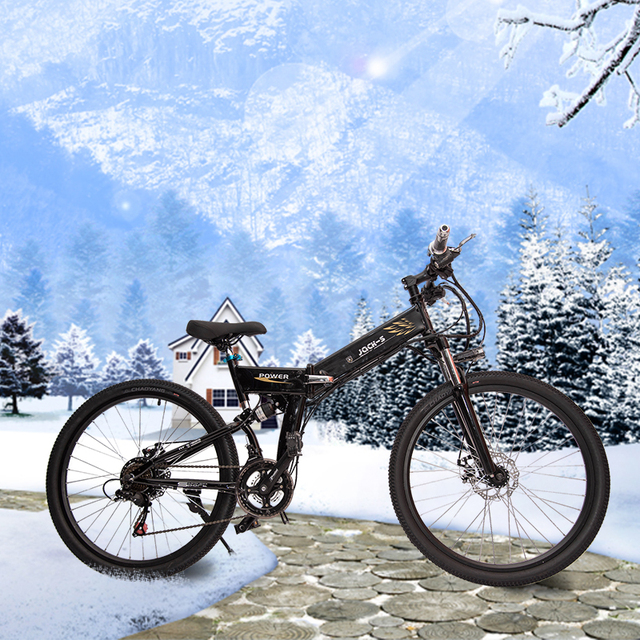 """New Electric Bike 24 Speed 10AH 36V 350W Built-in Lithium battery E bike electric 26"""" Off road Electric bicycle Folding"""