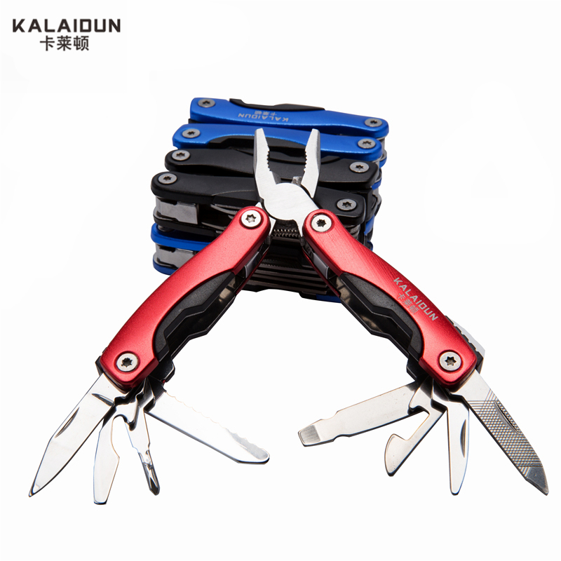 KALAIDUN Multi-functional survival stainless steel 9 in 1 knife Pliers  portable Outdoor Hand Tools mini Wrench Pliers tool set 11 in 1 mutifunction credit card size tools portable wallet knife outdoor camping pocket survival edc mini multi tool