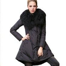 Loose Cloak-type Down cotton Womens Jacket Winter Warm Top Ukraine Big Fur collar Plus size Parkas Female Fashion Long Coat X242