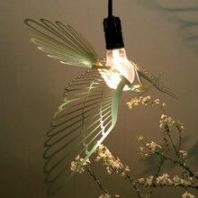 Creative birds stainless steel pendant contracted study a buffet restaurant small droplight interesting bird lamp