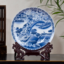 Jingdezhen Ceramic Anqitue Beauty Plate The Twelve Gold Hair Pin Beauty Porcelain Decorative Plate Metope For Living Room Hotel