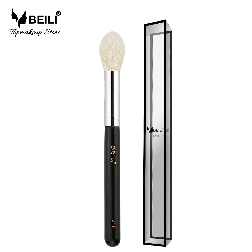 BEILI J01 Natural Goat Hair Blusher Highlight Contour Średni rozmiar Single Makeup Brush