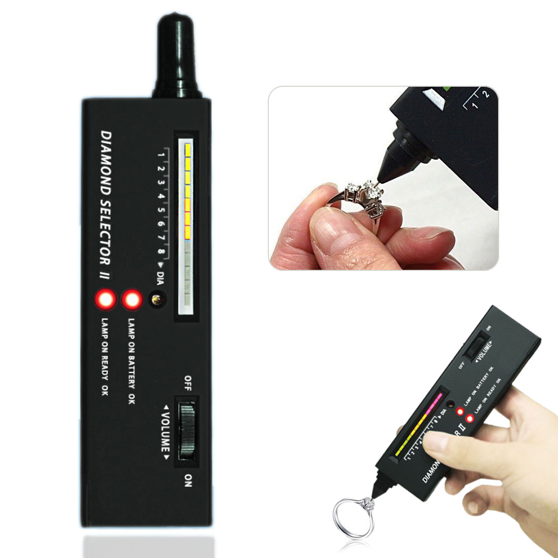 Diamond Tester Practical Diamond Selector Diamond Tester Gemstone Selector Gems LED Indicator Jewel Jewelry Tools Test