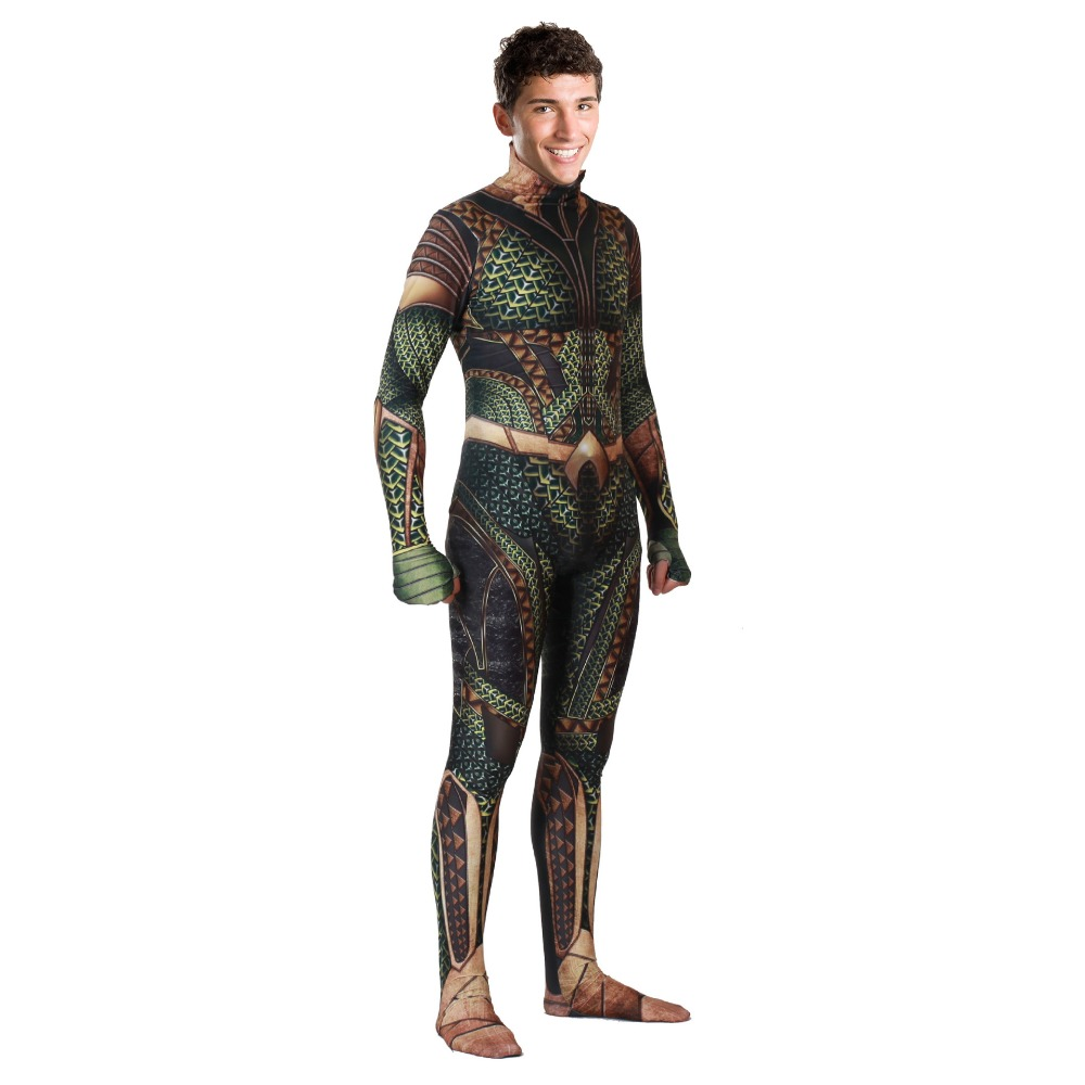 Movie Comic Flesh Color Sea King Cosplay Siamese Tights Halloween Cosplay Costume