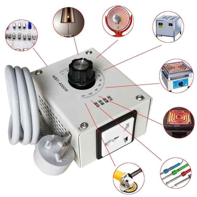 Nueva llegada 4000W AC 220V controlador de voltaje Variable para regulador de temperatura del Motor de velocidad del ventilador