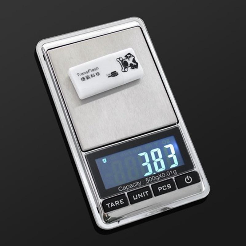 500g 0,01 g skaitmeninės kišeninės svarstyklės 500G 0,01 g - Matavimo prietaisai - Nuotrauka 2