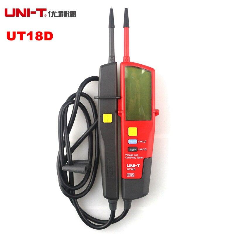 UNI-T UT18D Tension Et Continuité Testeurs Auto Gamme Volts Détecteurs Stylo LED/LCD Affichage