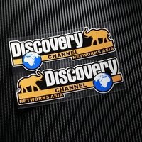 NO TP049 Discovery Channel Network Asia Reflective Car Sticker Decals Motorcycle Racing Stickers Motorbike Helmet Windshield