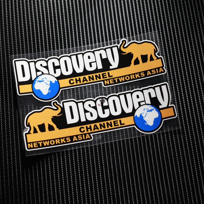 NO.TP049 Discovery Channel Network Asia Reflective Car Sticker Decals Motorcycle Racing Stickers Motorbike Helmet Windshield ATV 2017 new knight protection gxt flip up motorcycle helmet g902 undrape face motorbike helmets made of abs and anti fogging lens