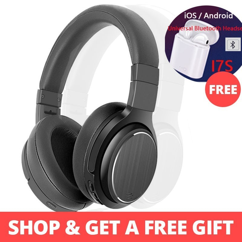 Free Shipping M1 Active Noise Cancelling Headphones Wireless Headset Microphone Portable Headset With Microphone For Phone Music