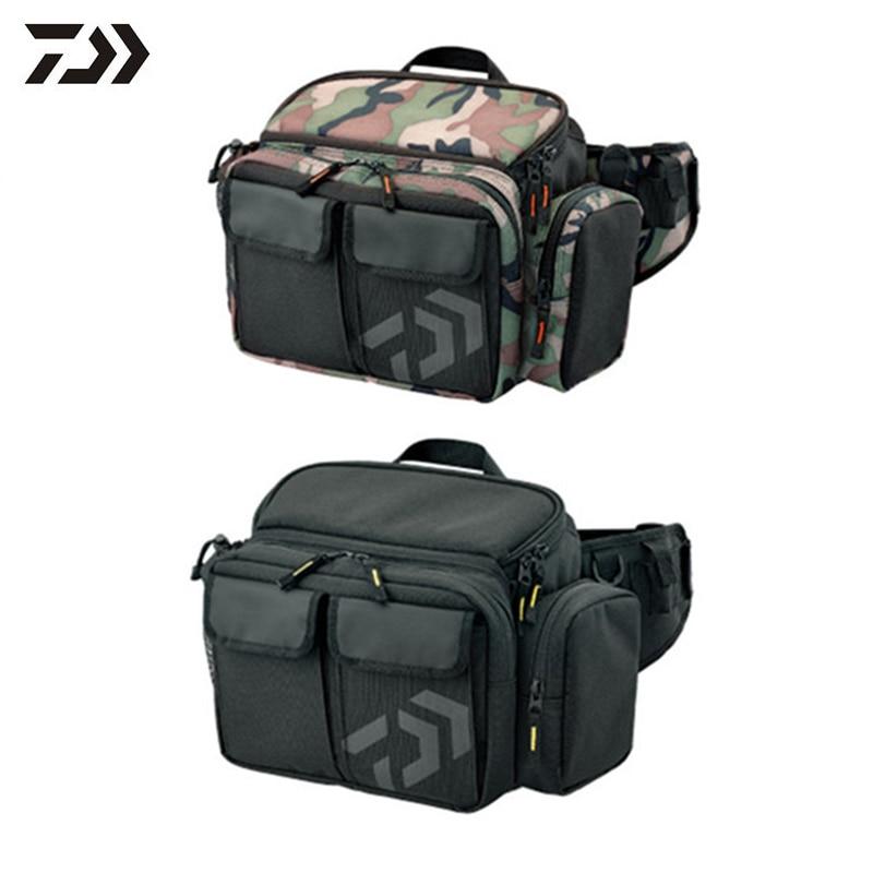 2018 Daiwa Canvas Fishing Bag Multifunctional Fishing Tool Storage Bag Outdoor Waist Shoulder Bag Case Reel Lure Carrier Storage