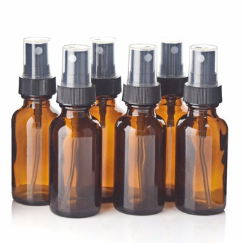 6pcs 30ml Amber Glass Spray Bottle with Black Fine Mist Sprayer Refillable Essential Oil Bottles Empty Cosmetic Containers 1Oz brown glass spray bottles premium 2 x 500 ml amber glass spray bottle with fine trigger for spraying and airtight lids
