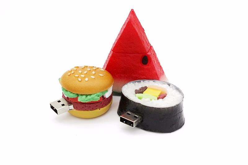 IsMyStore: JASTER Hamburger food usb flash drive creative sushi watermelon pendrive pen drive 4gb 16gb 32gb 64GB memory stick u disk gift