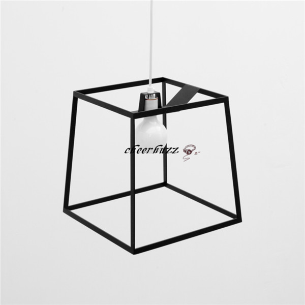 New Modern European Iron Square Frame Pendant Light Creative Lamp PL119 25