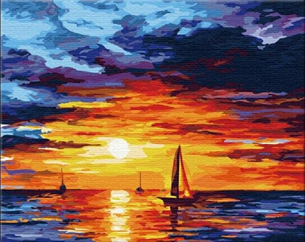 Peinture sans cadre E281 | Impression de soleil, peinture manuelle,  Impression de paysage, peinture à l'huile, peinture murale, décoration de  maison, 40x50 cm | AliExpress